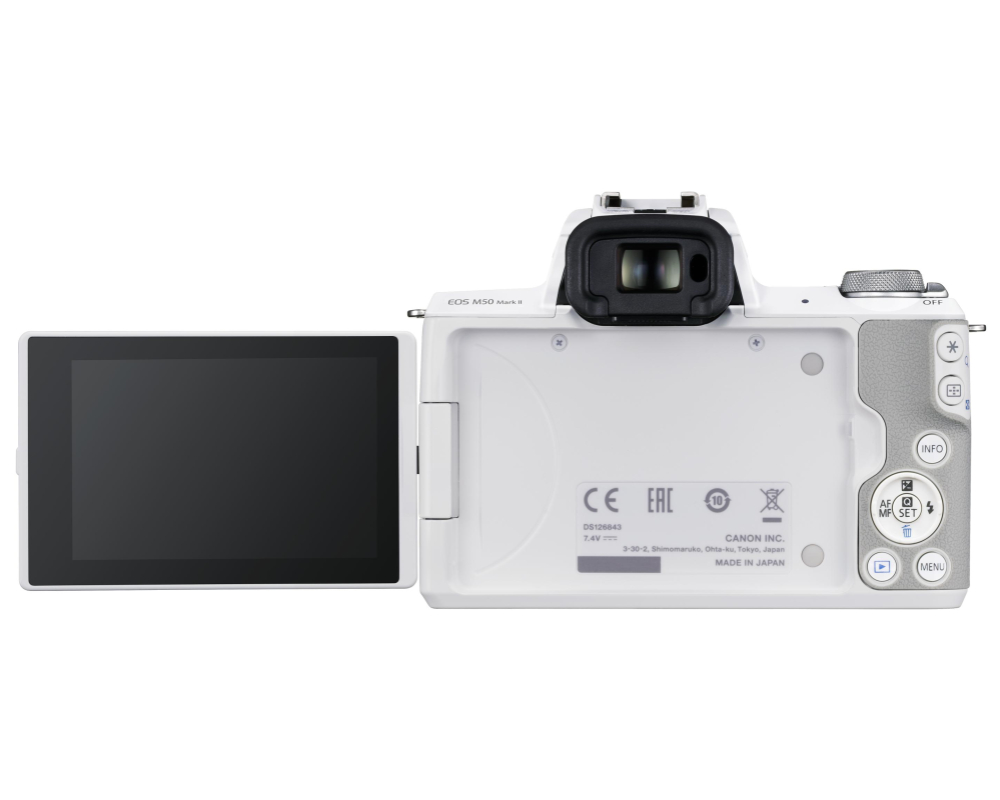 Canon EOS M50 II + 15-45 IS STM weiss - 6