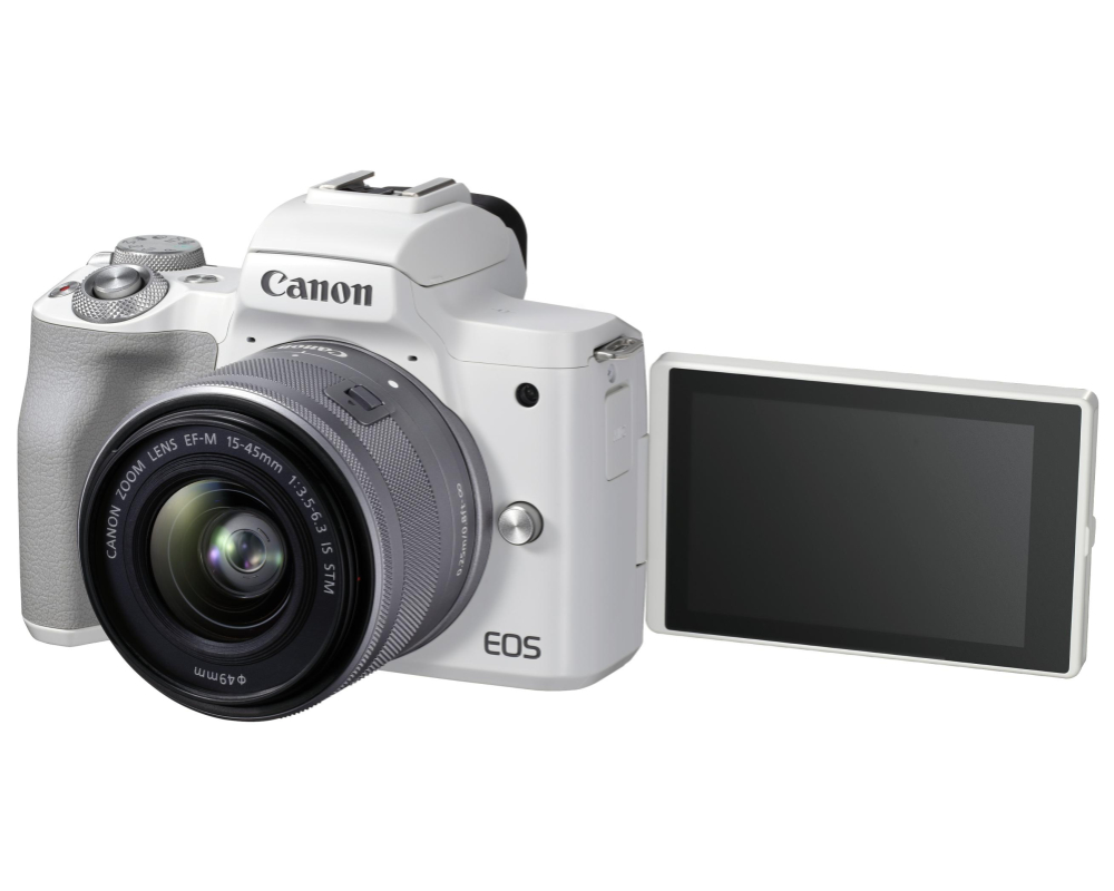 Canon EOS M50 II + 15-45 IS STM weiss - 1