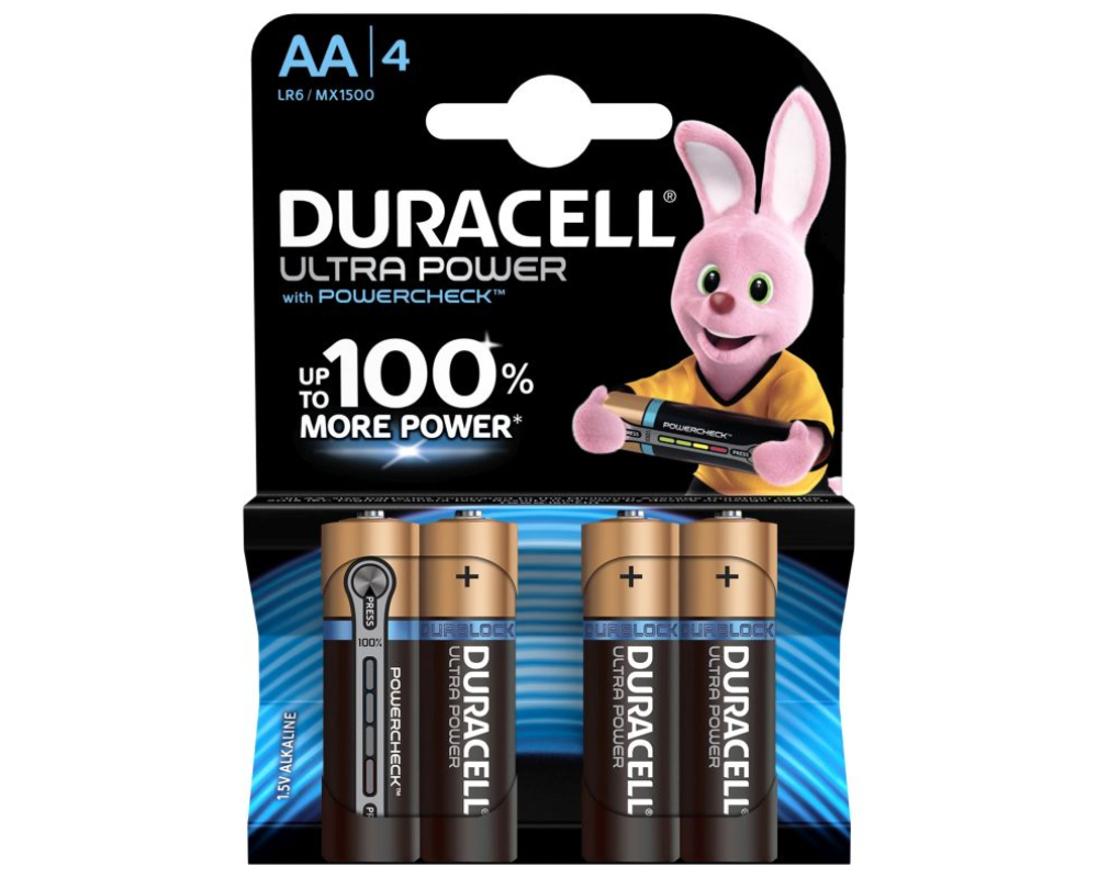 Duracell Ultra Power Mignon 4er-Pack AA -