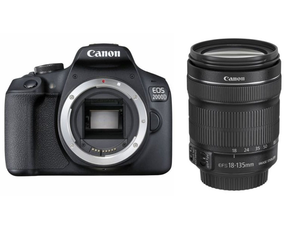 Canon EOS 2000D + EF-S 18-135 IS STM -