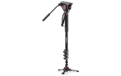 Manfrotto Einbeinstativ MVH500AH + FLUID BASE