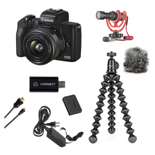 Canon EOS M50 II + 15-45 IS STM + Live Stream Kit