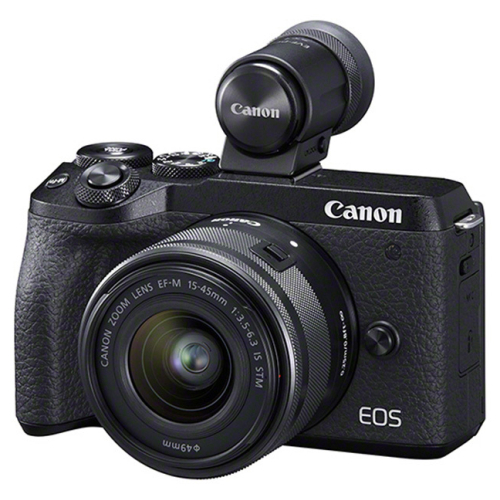 Canon EOS M6 Mark II + EF-M 15-45 STM + EVF-DC2