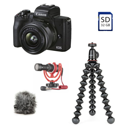 Canon EOS M50 II + 15-45 IS STM + VLogger Kit